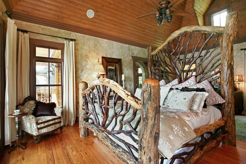 estupendo diseño cama madera