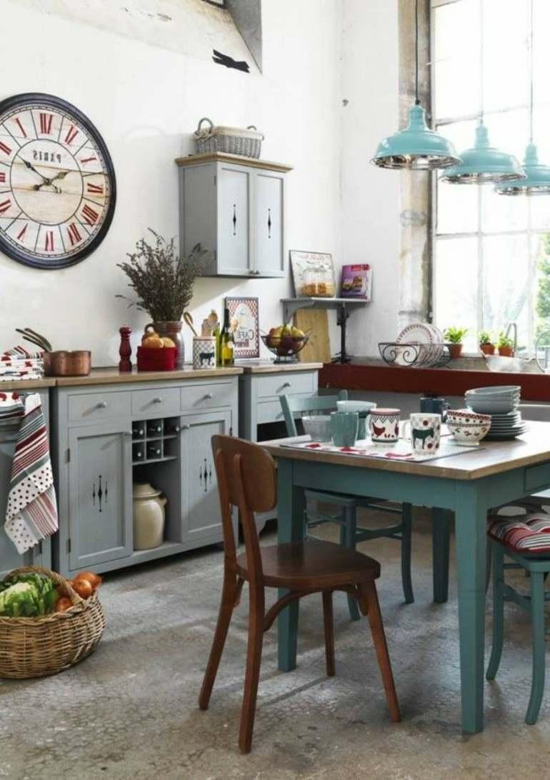 Decoraci n de cocinas r sticas 50 ideas originales - Decoracion rustico chic ...