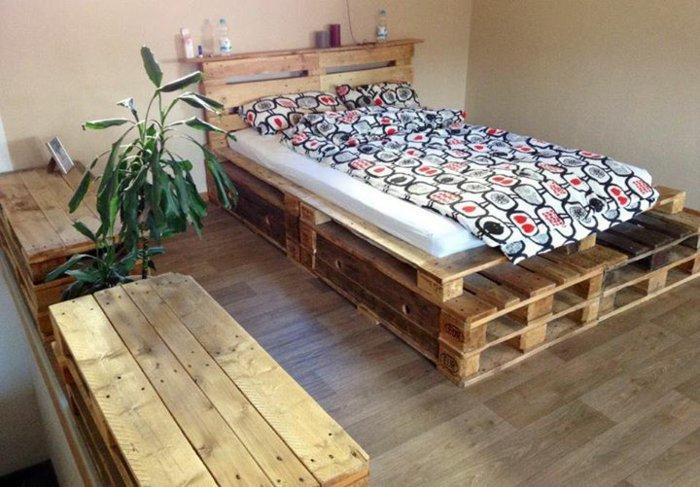 view in gallery muebles habitacin pallet madera palet de madera para decorar su hogar 100 ideas - Palet De Madera