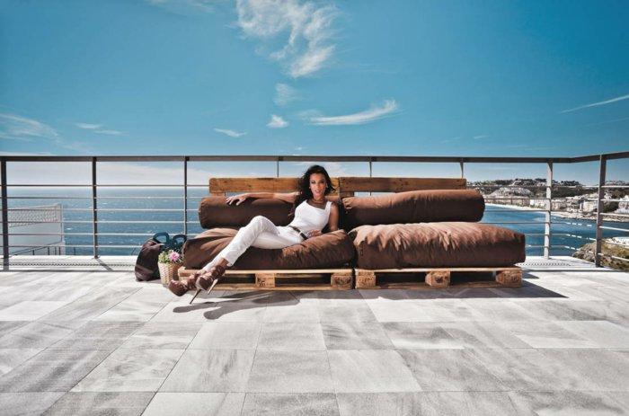 sofás acolchados terraza exterior