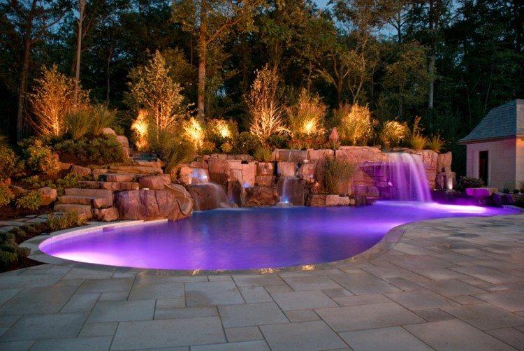 exteriores rojo rocas terrazas rosa piscina