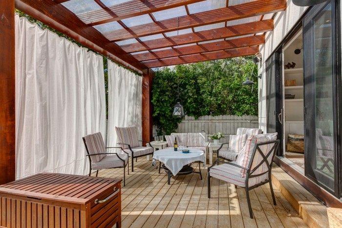 faroles casas forja natural cojines blanco