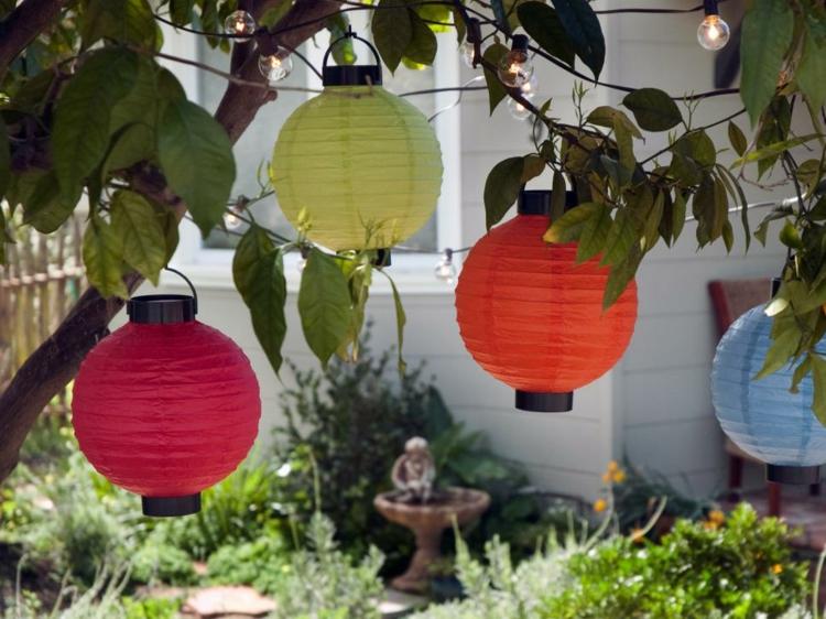 faroles estilos colores casas fuentes