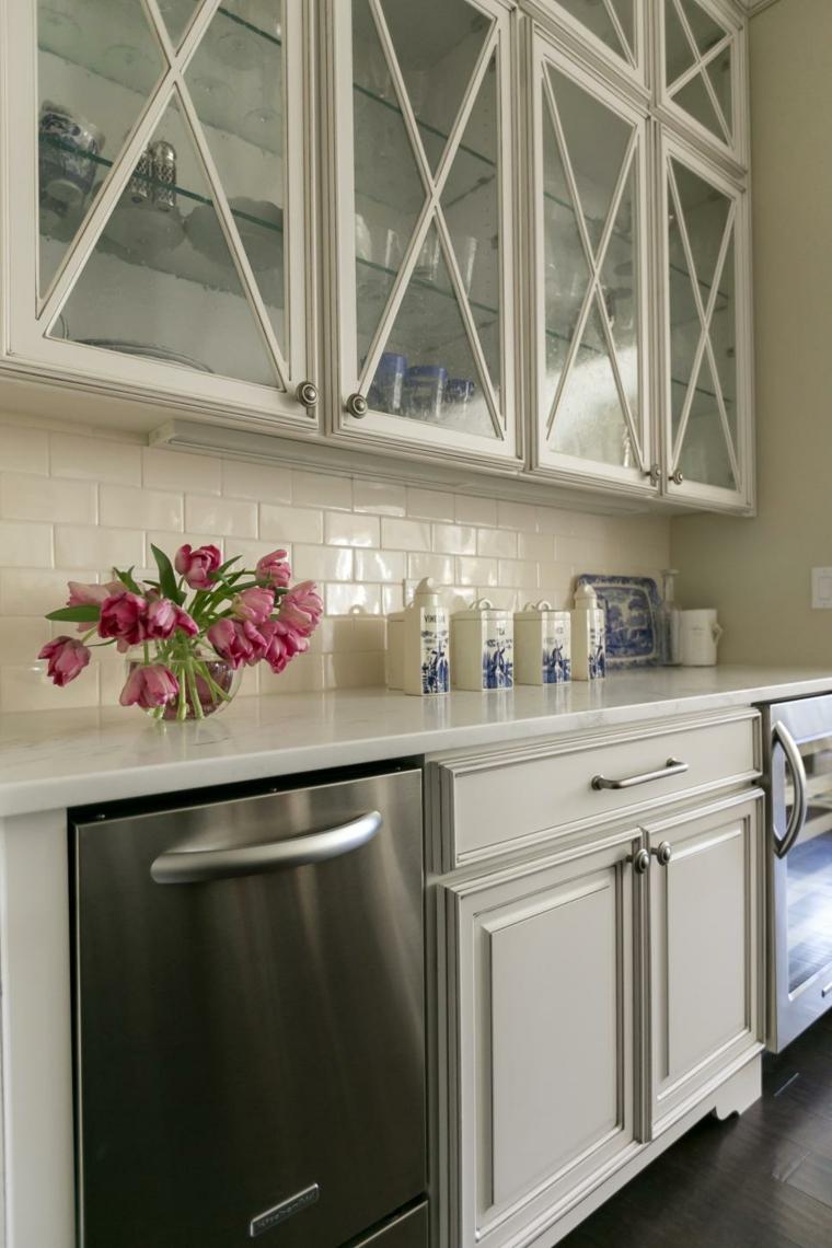 flores diseños estilos casas cristales