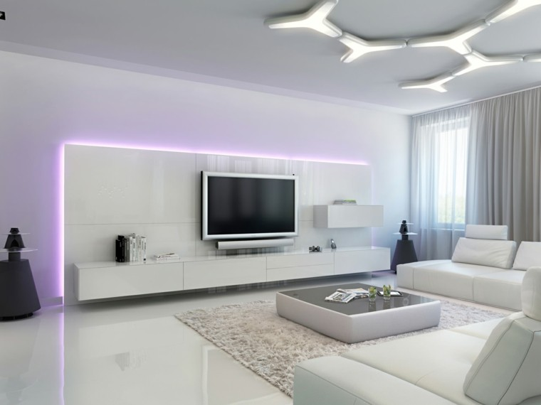 focos led deco salon blanco