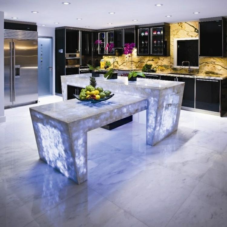 fotos de cocinas luminosa mesas centro