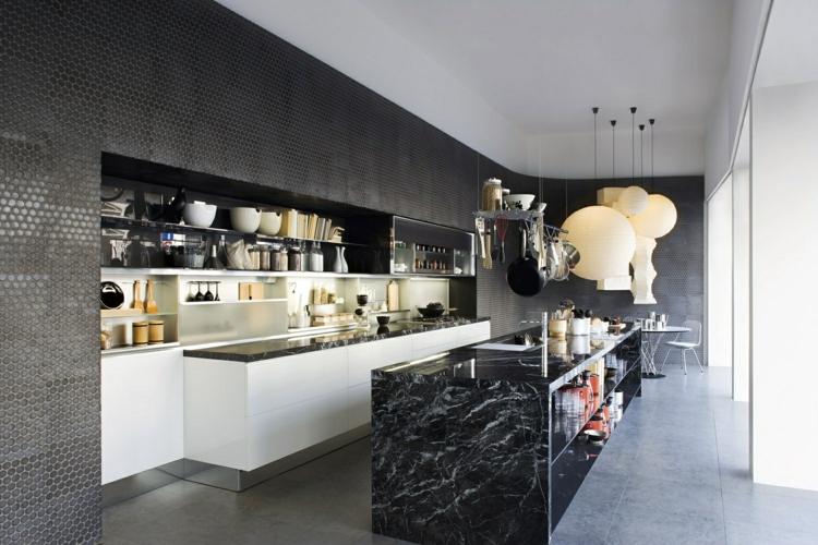fotos de cocinas luminosa modernos grises