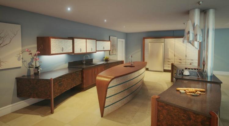 fotos de cocinas luminosa mueble natural