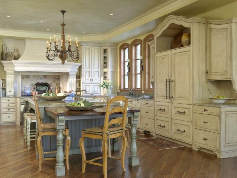 fotos de mueble de cocina campestre maderas
