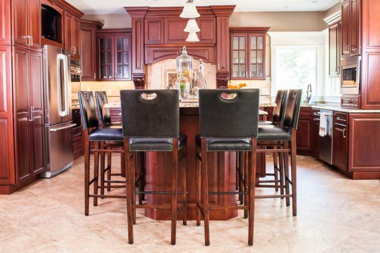 fotos de mueble de cocina cuero altas