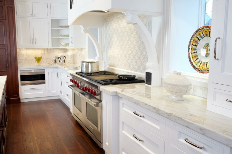 fotos de mueble de cocina tradicional colores