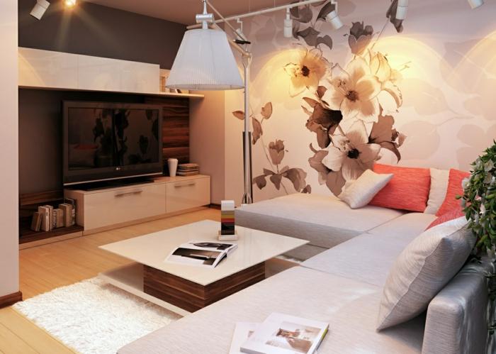 fotos de salones modernos blanco lamparas