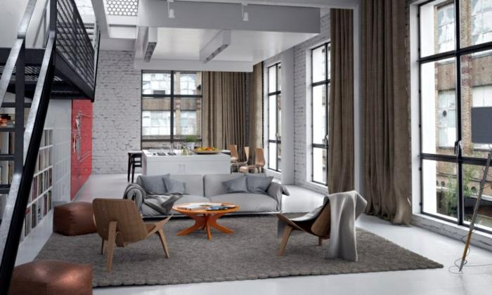 fotos de salones modernos neutral lamparas sillones