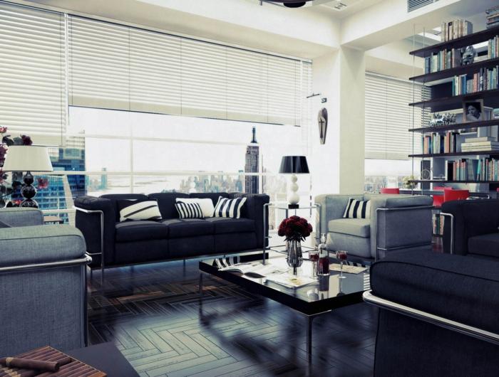 fotos de salones modernos suelos metales