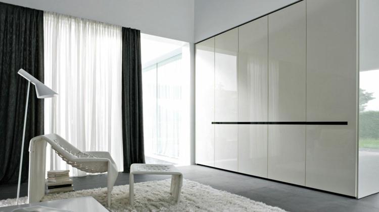 fresco elegante detalles verdes alfombras negro