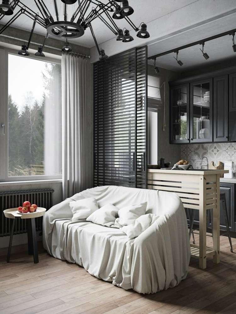 grises casas blanco plantas estantes negro