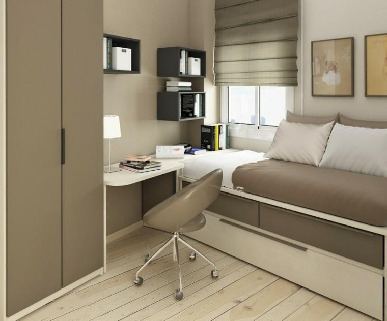 habitacion moderna tonos neutros