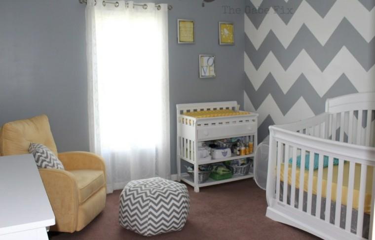 habitacion bebe color gris