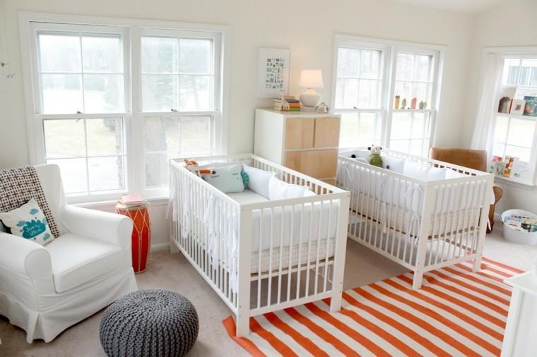 habitacion gemelos diseño blanco moderno
