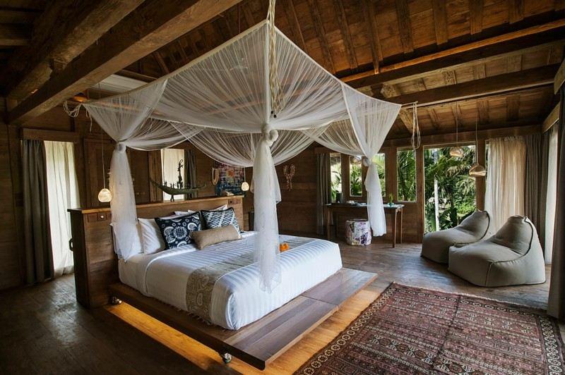 habitacion lujosa estilo oriental mosquitera