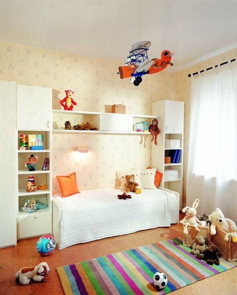 habitacion moderna juguetes peluche