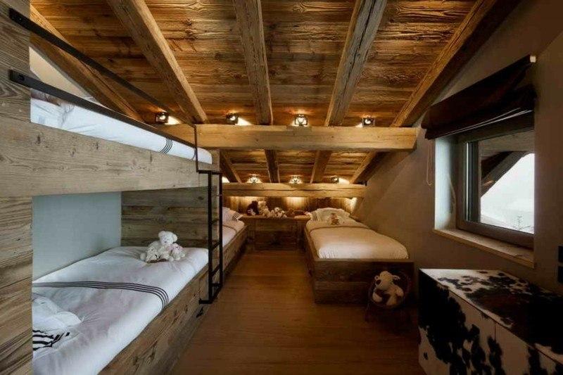 habitacion infantil niños deco madera