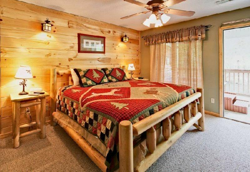Decoracion de dormitorios rusticos   madera y piedra