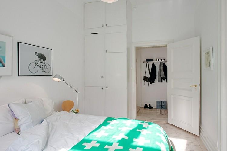 habitacion estilo nordico verde cruces