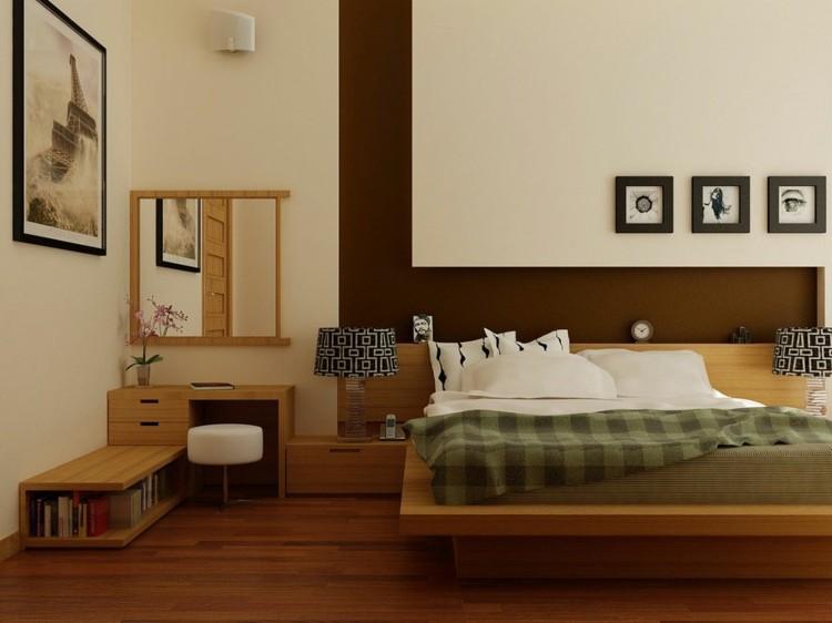 habitacion muebles madera minimalistas
