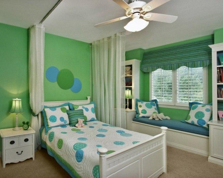habitaciones infantiles modernas colores fríos