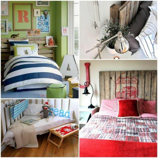 diseños cabeceros camas palet