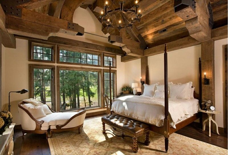 Decoracion de dormitorios rusticos madera y piedra - Muebles estilo rustico ...