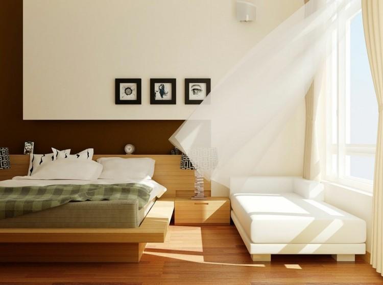 habitaciones modernas estilo oriental madera