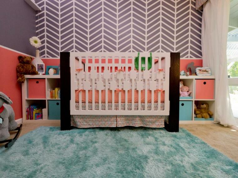 habitaciones niña bebe soluciones alfombras jarron