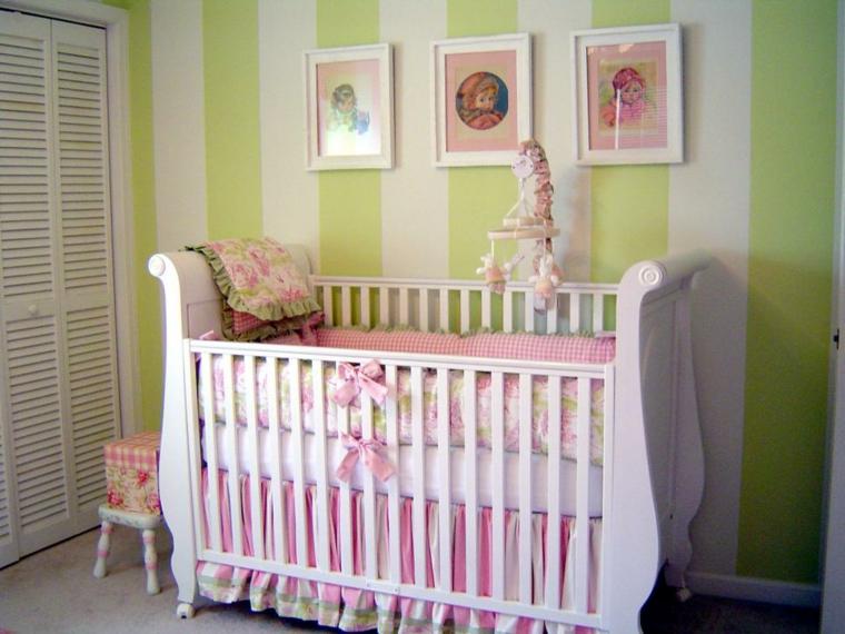 habitaciones niña bebe soluciones detalles verde