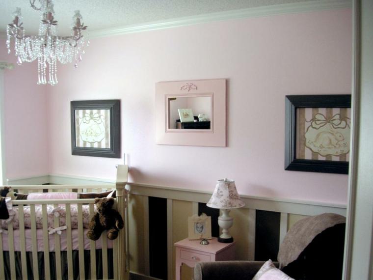 habitaciones niña bebe soluciones lamparas mobiliario