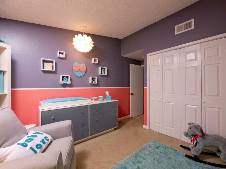 habitaciones niña bebe soluciones luminaria funcional calido