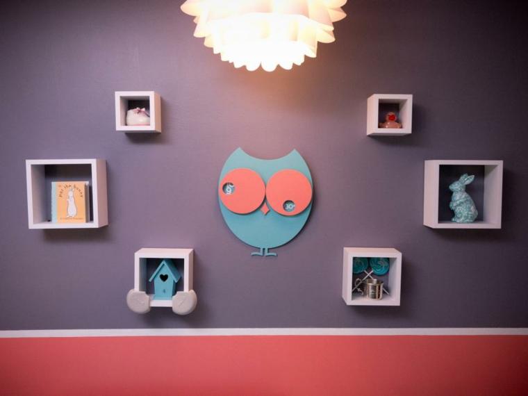 habitaciones niña bebe soluciones luminarias buho
