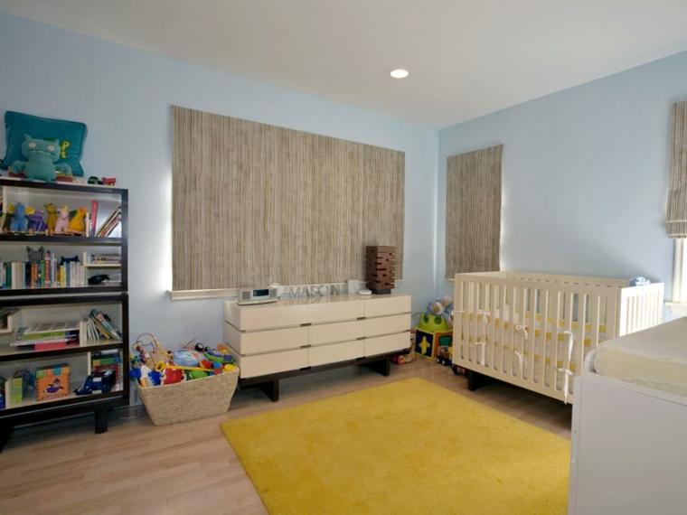 habitaciones niña bebe soluciones neutral amarillo