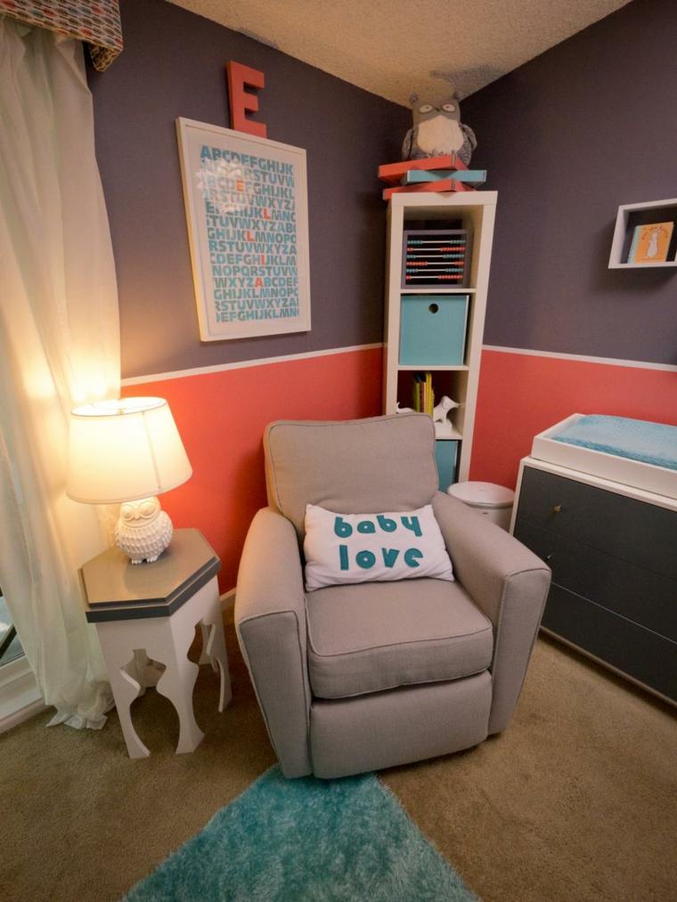 habitaciones niña bebe soluciones sofa lamparas