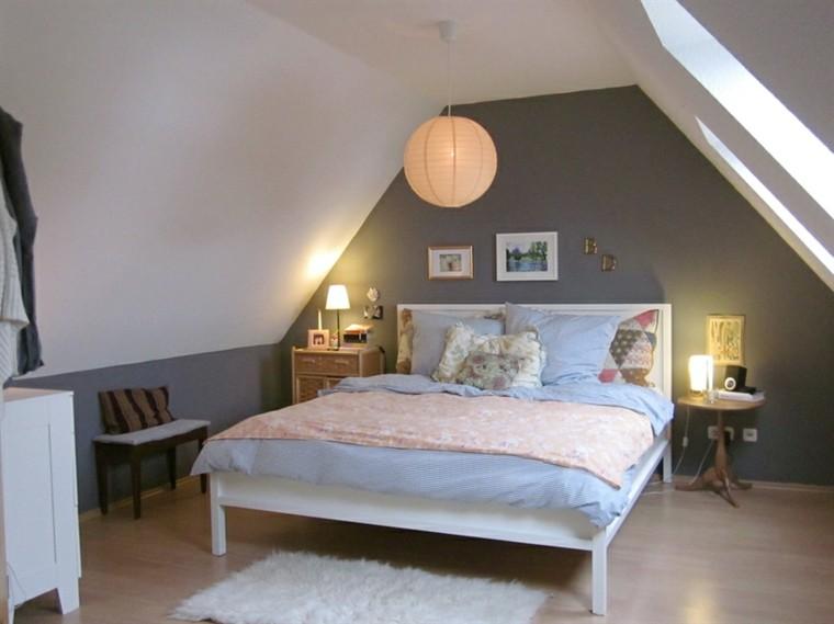 habitaciones pequeñas pared color gris