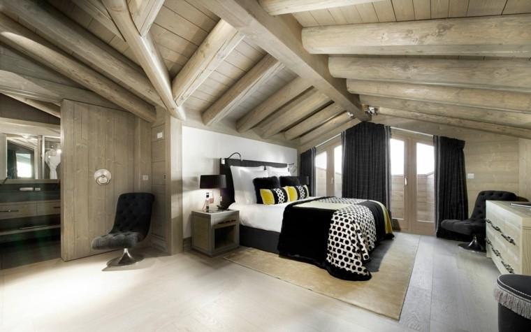habitaciones pequeñas atico madera