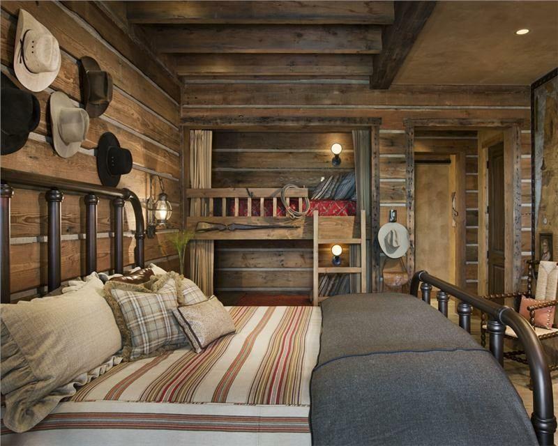 habitaciones rústicas pared sombreros