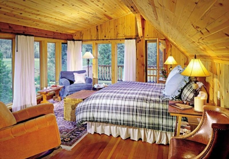 Decoracion de dormitorios rusticos madera y piedra for Decoracion de habitaciones de matrimonio rusticas