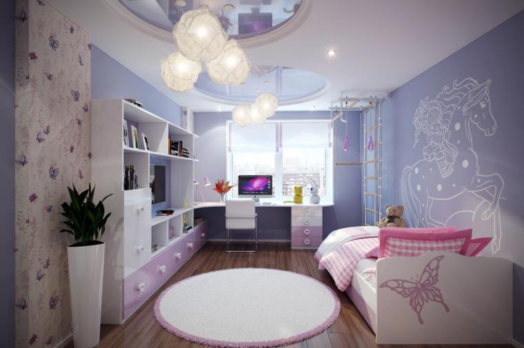 habitación infantil color lila