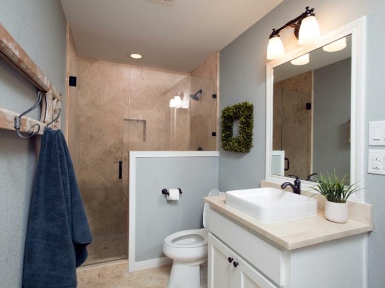 ideas de como decorar un baño pequeño calido rustico
