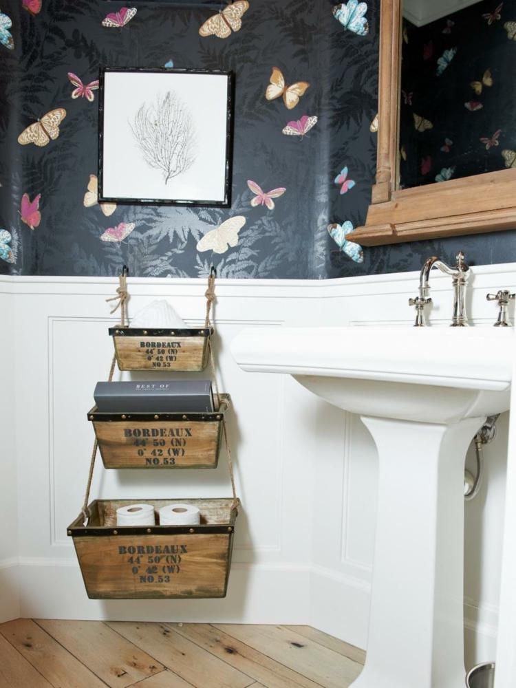 ideas de como decorar un baño pequeño colgantes paredes