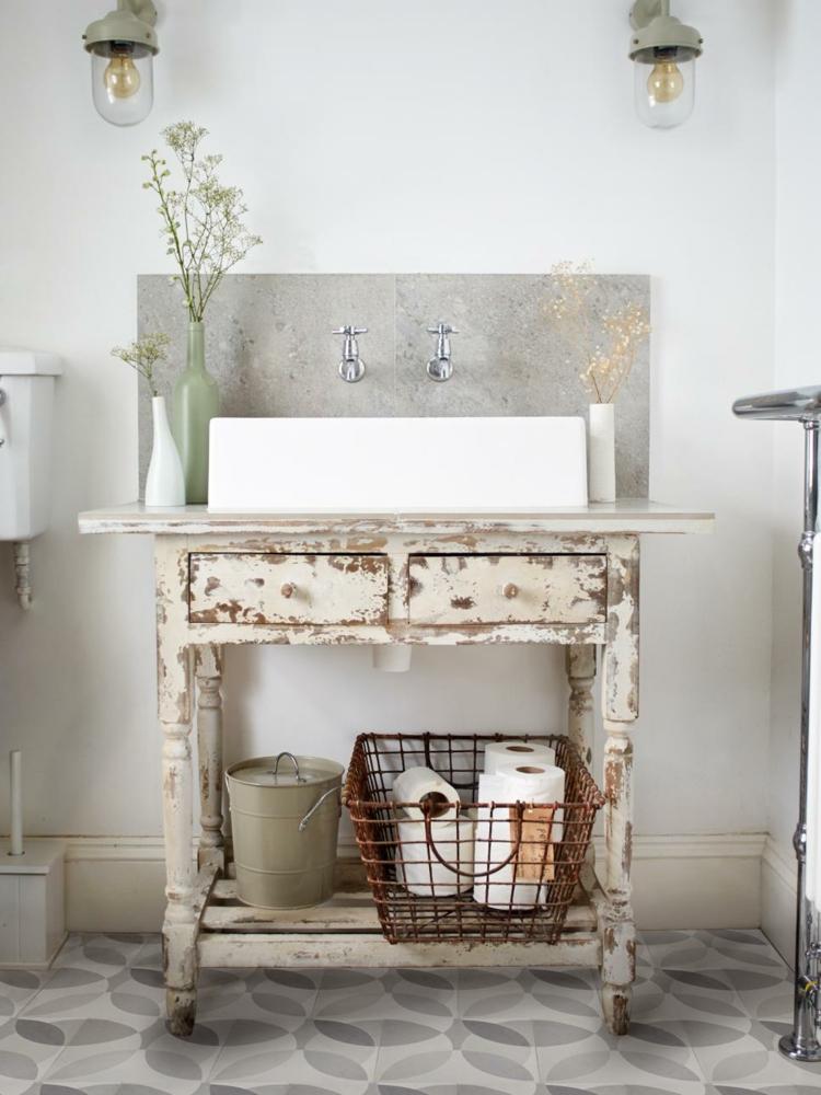 ideas de como decorar un baño pequeño colores muebles