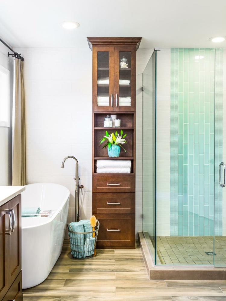 ideas de como decorar un baño pequeño ducha cesto
