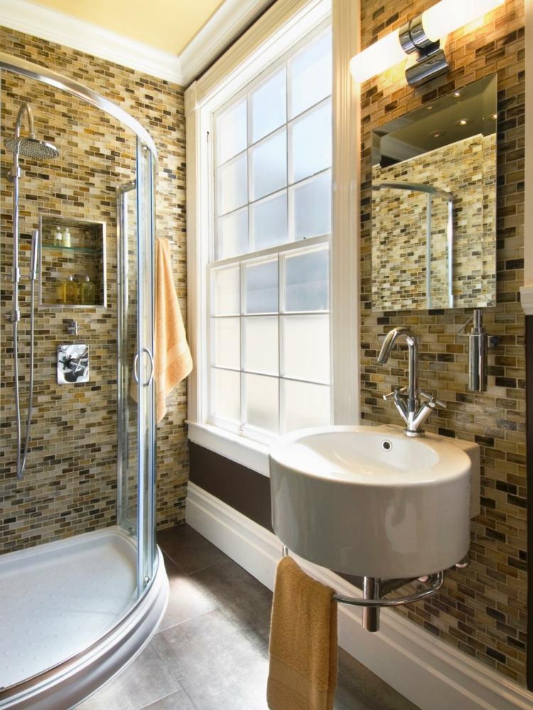 ideas de como decorar un baño pequeño industrial luminarias calido